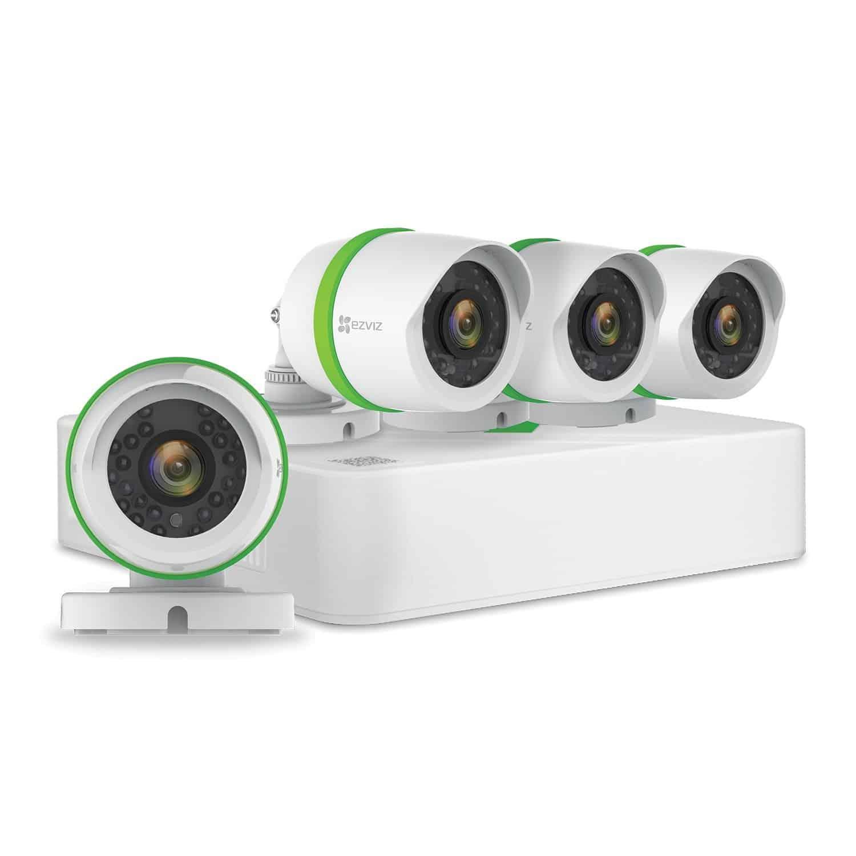 Good Wireless Security System - EZVIZ FULL HD 1080p Outdoor Surveillance System, 4 Weatherproof HD Security Cameras, 4 Channel 1TB